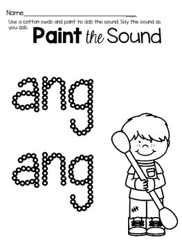 Activities to practice the sound {ang}