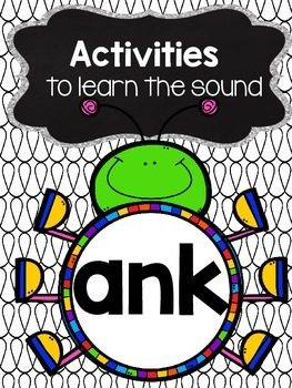 Activities to practice the sound {ank}