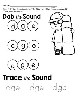 Activities to practice the sound {dge}