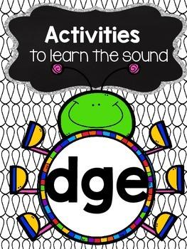 Activities to practice the sound {dge}