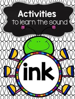 Activities to practice the sound {ink}