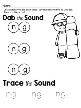 Activities to practice the sound {ng}