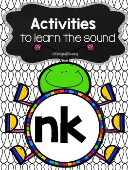 Activities to practice the sound nk