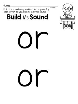 Activities to practice the sound {or}