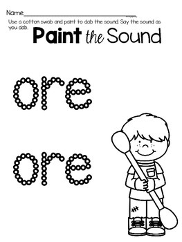 Activities to practice the sound {ore}