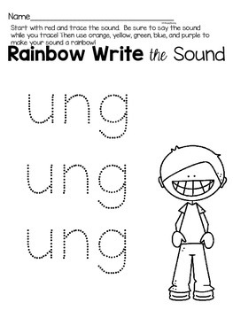 Activities to practice the sound {ung}