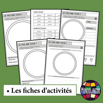 Activities to teach French/FFL/FSL: Je fais ma pizza/Making a pizza