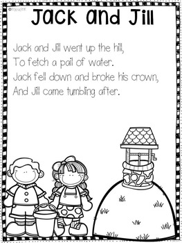 Jack and Jill Nursery Rhyme Activities