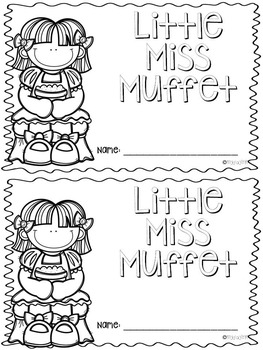 Little Miss Muffet Nursery Rhyme Activities