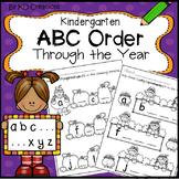 ABC Order Activities Through the Year in Kindergarten