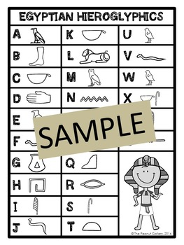 Activities with Egyptian Hieroglyphics