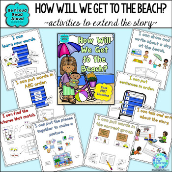 How Will We Get to the Beach Book Unit with Sequencing and Classification