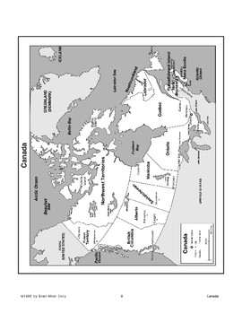 Activities with Maps of Canada