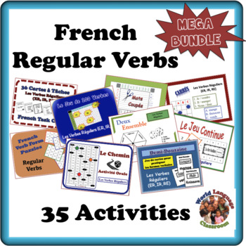 Activities with Regular Verbs in French-35 Activities (175 Pages)