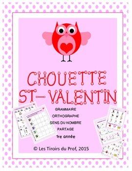 Valentine writing and maths lessons Activités maths et écr