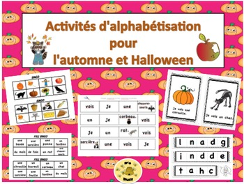 Activités d'alphabétisation pour l'automne et l'Halloween