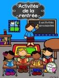 Activités de la rentrée (Back to School Activities)