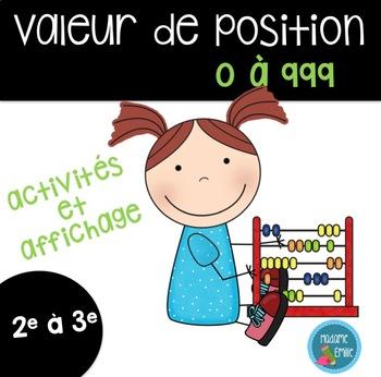 Activités sur la valeur de position/ French Place Value activities