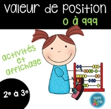 Activités sur la valeur de position/ French Place Value ac