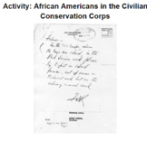 Activity: African Americans in the Civilian Conservation Corps