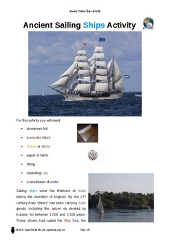 Activity: Ancient Sailing Ships