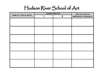 Activity: Art Analysis - Hudson River School