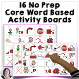 AAC Core Word Based Activity Communication Boards No Prep
