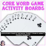 AAC Core Word Based Activity Based Communication Boards for Games