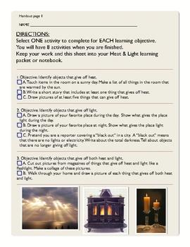 Activity-Based Learning: Heat & Light