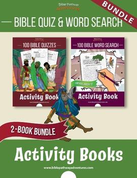 200 Bible Quizzes + Word Search Puzzles: Bible Activity Book Bundle