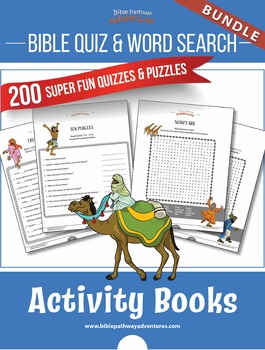 BUNDLE: Bible Quizzes & Word Search Activity Books