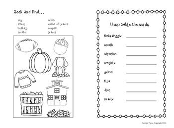 Activity Book:  Doodle Book Fall Theme
