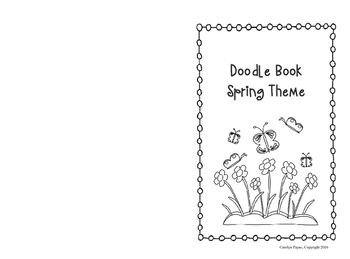 Activity Book:  Doodle Book Spring Theme