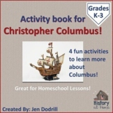 Christopher Columbus Activity Book for Homeschool and Grades K-3