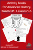 Activity Books for American History Lessons 1-5 for Grades K-3 and Homeschool