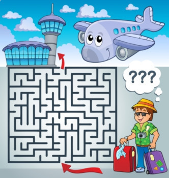 Activity Book for Kids - Mazes and Word Searches  for Kids
