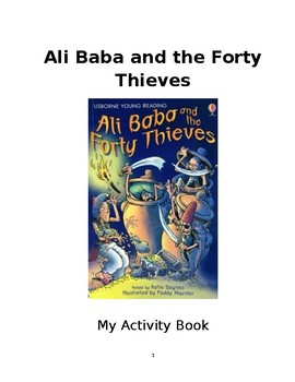 Activity Book for Ubsorne Young Reading Ali Baba and the Forty Thieves