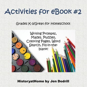 Activity Book For Ebook2 Lessons 6 10 American History Grades K 3