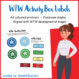 Activity Box Labels for Words Their Way (Superhero)