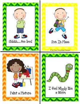 Autism, Activity Break, and Sensory Processing Disorder Cards