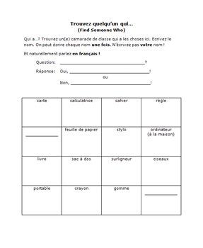 Activity Bundle: Dans la salle de classe