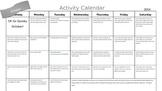 Activity Calendar- October!