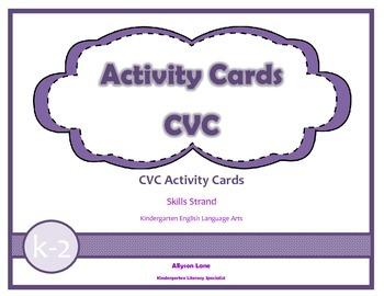 Activity Cards- CVC FREEBIE