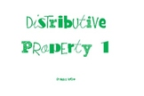Activity Cards: Distributive Property I