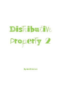 Activity Cards: Distributive Property II