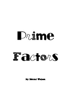 Activity Cards: Prime Factors
