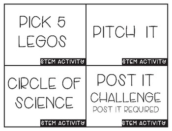 Activity Cards for Team Building, Creative Thinking, and STEM