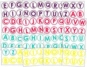 Letter and Number Card Bundle