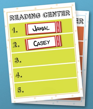 Activity Center Signs