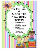Activity Character Traits Game for Reading Comprehension